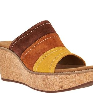 Clarks Aisely Lily Wedge Sandal Size 11